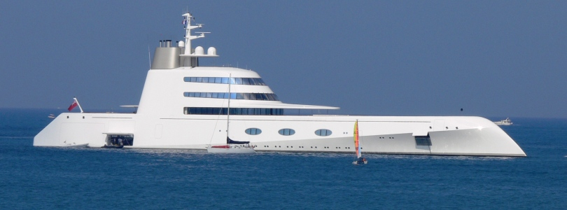 Motor Yacht A - Anchored off Antibes France July 2009